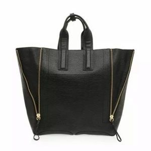 3.1 Phillip Lim Pashli Large Zip Tote Bag Black